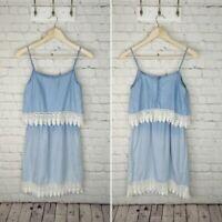 Jessica Simpson chambray lace dress Size XS