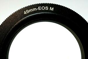 49mm Macro Reverse Adapter Ring for Canon EOS M M2 EF-M mount mirrorless cameras