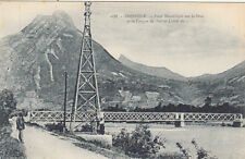 GRENOBLE 152 pont métallique sur le drac casque de néron écriture fine