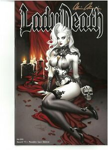 Lady Death Sworn 1 NAUGHTY LACE edition signed Brian Pulido COA FREE UK POST NM