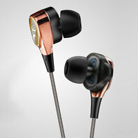 Dual Driver Earphone Super Bass Headphone HIFI Stereo Headset Earbuds With Mic
