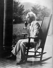 Old Photo. Mark Twain - Rocking Chair