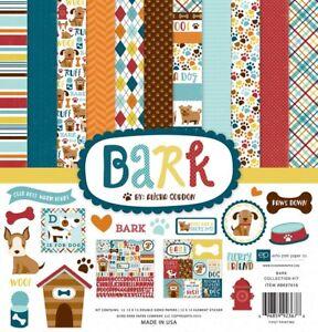 Echo Park BARK 12x12 Scrapbook Kit Dog Pet Puppy Papers + Stickers