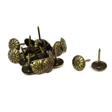 "Home Furniture Iron Upholstery Tack Nails Push Pins Bronze Tone 7/16"" Dia 20 Pcs"
