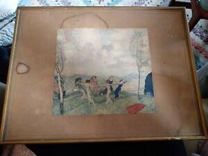 Antique Franz Von Stuck Print 42cm wide 32cm tall   #PB1