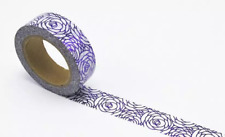 Purple Peonies Flowers Washi Tape Masking Tape for Journals, Planners, DIY, Craf