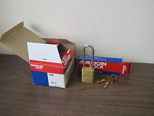 6 AMERICAN LOCK A5532 SOLID BRASS PADLOCKS, KEYED DIFFERENT,NEW OLD STOCK