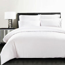 Luxe White 100% Bamboo Quilt Cover Set 400TC QUEEN SIZE Bedding For Your Health