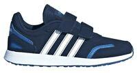 Scarpe Sportive Bambino Adidas VS Switch 3 C a Strappo Blu Similpelle Palestra