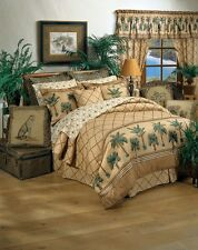 Kona - Palm Tree 7 Piece Twin Comforter Bedding Set - Beach Tropical Sand Ocean