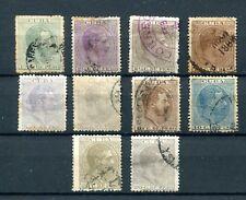 1883. Cuba Edifil 95/105 (or). used. Catalogue £ 36,20