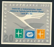 75790) Autocollant Label Sticker projets Lufthansa 1955 LUPOSTA Berlin 1962 V .1