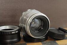 KMZ Helios 44 silver 2/58mm, 8 blades M39/M42 for SLR + Sony E NEX (for E-mount)