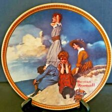 """Norman Rockwell Plate """"Waiting On The Shore"""" #17344E, Knowles China"""