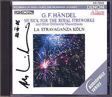 Andrew MANZE Signiert HANDEL Royal Fireworks Arrival of the Queen Sheba DENON CD