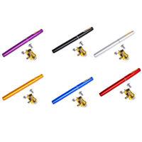 1X(Portable Pocket Mini Pen Fishing Rod With Reel Spinning Rod Ultralight T P1N9