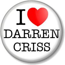 "I Love / Heart DARREN CRISS 1"" Pin Button Badge Glee Actor Singer Blaine Musical"