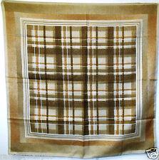 Cuadros Vintage Marrón ~ ~ ~ Bufanda Bufandas Cuadrada # 23