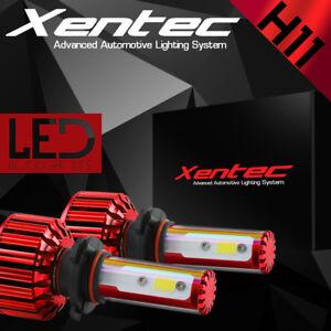 XENTEC LED HID Headlight kit H11 White for 2007-2015 GMC Sierra 3500 HD