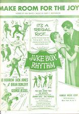 "JUKE BOX RHYTHM ""Make Room For The Joy"" Jack Jones Joe Morrow Johnny Otis"