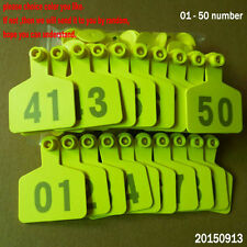 01--50 Number Animal cattle Use Ear Tag Livestock Tags labels cattle special