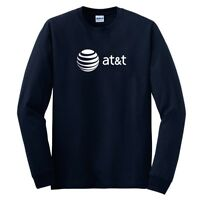 AT&T T-shirt 80s Vintage LOGO Funny GEEK Phone Long Sleeve Navy Blue Shirt S-5XL
