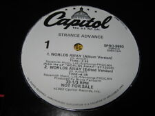 STRANGE ADVANCE Worlds Away vinyl 12 single record promo label  new wave synth