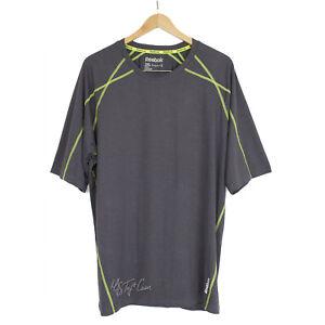 REEBOK Men Sport Performance Tee Short Sleeve Playdry Workout Fitness T-Shirt