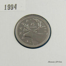1994  Canada  25 Cent Caribou Spécimen Coin Gem Uncirculated  From Set
