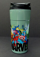 NEW DISNEY Store MARVEL COMICS Travel Coffee Mug STAINLESS STEEL Plastic 16 oz