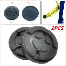 2x Heavy Duty Rubber Car Post Lift Arm Pad Round Disc 120x28mm Auto Repair Shop