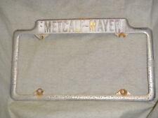 Rare Burlingame CA Edsel dealer license plate frame metal tag Metcalf-Mayer