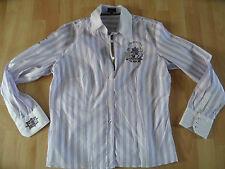 L`ARGENTINA schöne gestreifte Bluse flieder weiß Gr. 34 o. 40 NEUw. 1114