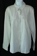NWT Chaps -Sz XL Elegant Vintage Ivory Check Classic Button Down Shirt Oxford