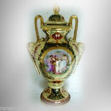 Royal Vienna vintage porcelain vase - designs and gold - FREE SHIPPING