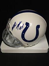 Marlin Jackson Colts signed mini helmet A & E Sports