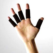 5 Black Sweatband Finger Support Brace Sport Gym Sleeve Support Arthritis NHS UK