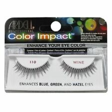 Ardell color impact false eye lashes in 110 wine for blue hazel or green eyes