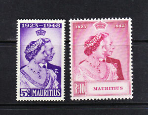 Mauritius.  1948 Silver Wedding.  MM but no hinge remains  L5857