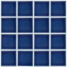 10 SF 3x3 Glossy Navy Blue Tile for Countertop Backsplash Pool Kitchen Bathroom