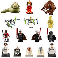 15pcs Starwars Jabba Rancor Amidala BB8 Darth Vader C3po Minifigures Custom Toy