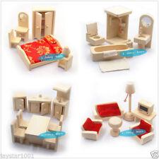 Articles pour maison de poupée miniature Chambre à coucher