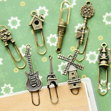 2 pcs/set Vintage Metal Bookmark Stationery Paper Clips Bookmarks For Book
