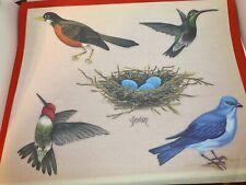 Tatouage Transfer Rub Design Carolyn Yovan Bird Nest Hummingbird Robin Bluebird
