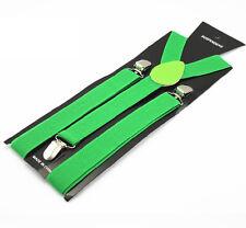 2017 New Unisex Elastic Y-Shape Braces Mens Womens Adjustable Clip-on Suspenders