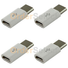 4 Micro USB to USB 3.1 Type C Converter Charger Adapter for Android Cell Phone