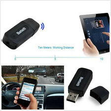 Car Off-Road DC5V USB Port Adaptor Bluetooth 3.5mm AUX Music Receiver Kit Black