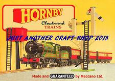 Hornby Clockwork Trains 1957 A4 Size Poster Leaflet Shop Display Sign Advert