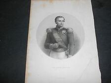 1861 STEEL ENGRAVING THE PRINCE NAPOLEON NAPOLEONE ENGRAVER T.W.KNIGHT
