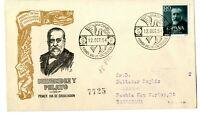 Sobre primer dia sellos de España Marcelino Menendez y Pelayo 1954